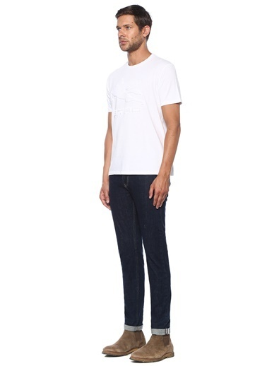 Etro Etro  Logo Kabartmalı Basic T-shirt 101552742 Beyaz